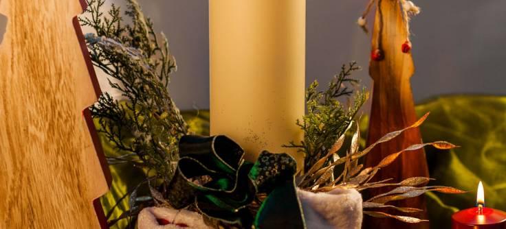 Weihnachtsdeko Für Gastronomie.Dauerkerze Cremefarben U Zierhüllen Bordeaux Flexilight