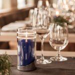 Volta Chrome Tischleuchte Reinigung Flüssigwachskerze Kerze Wachskerze Windlicht Tischdeko Gastronomie Hotellerie Heliotron Flexilight Blog